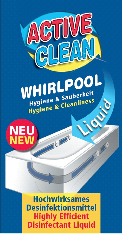 12 x whirlpool hygiene desinfektion active clean liquid 1 l. Black Bedroom Furniture Sets. Home Design Ideas