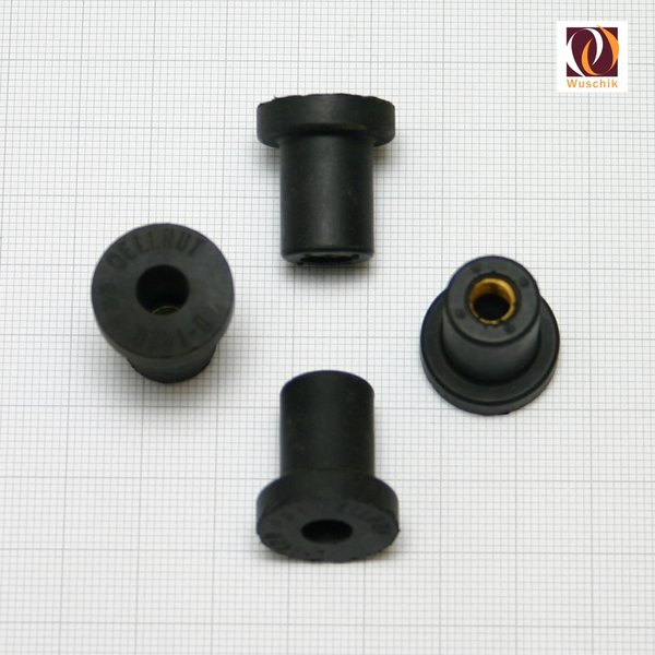 4 X Rubber Nut Insert Fasteners M6 Kit Set