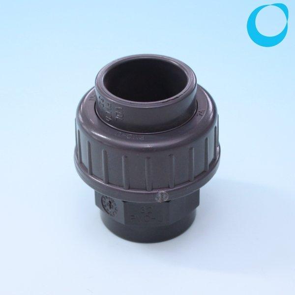 Pvc Gland Screw Fitting 32mm Seal Solvable Grey Pvc U