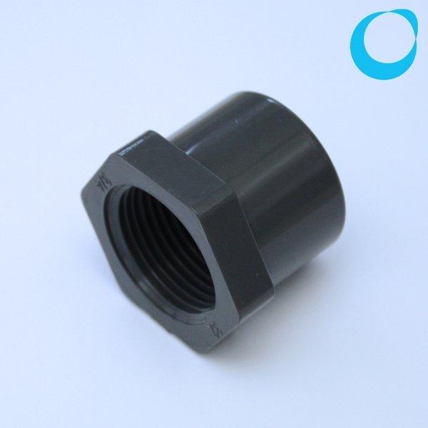 Pvc reducer mm outside inch inside thread