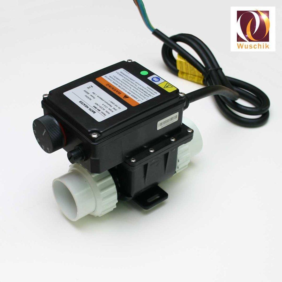 Heizung Whirlpool und Whirlwanne 3,0 kW, Thermostat, Flussensor