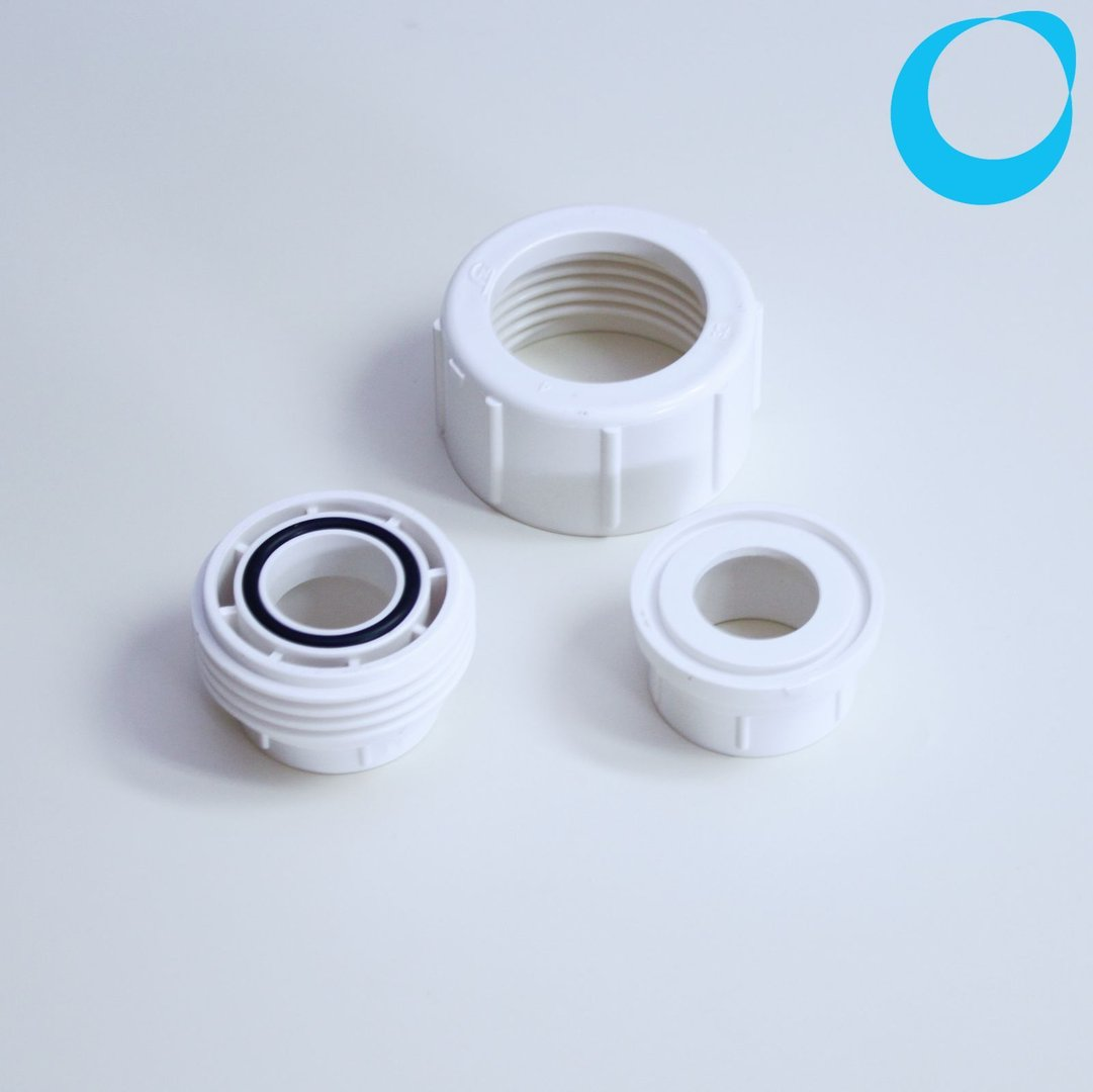Pvc gland mm union white with seal sleeve