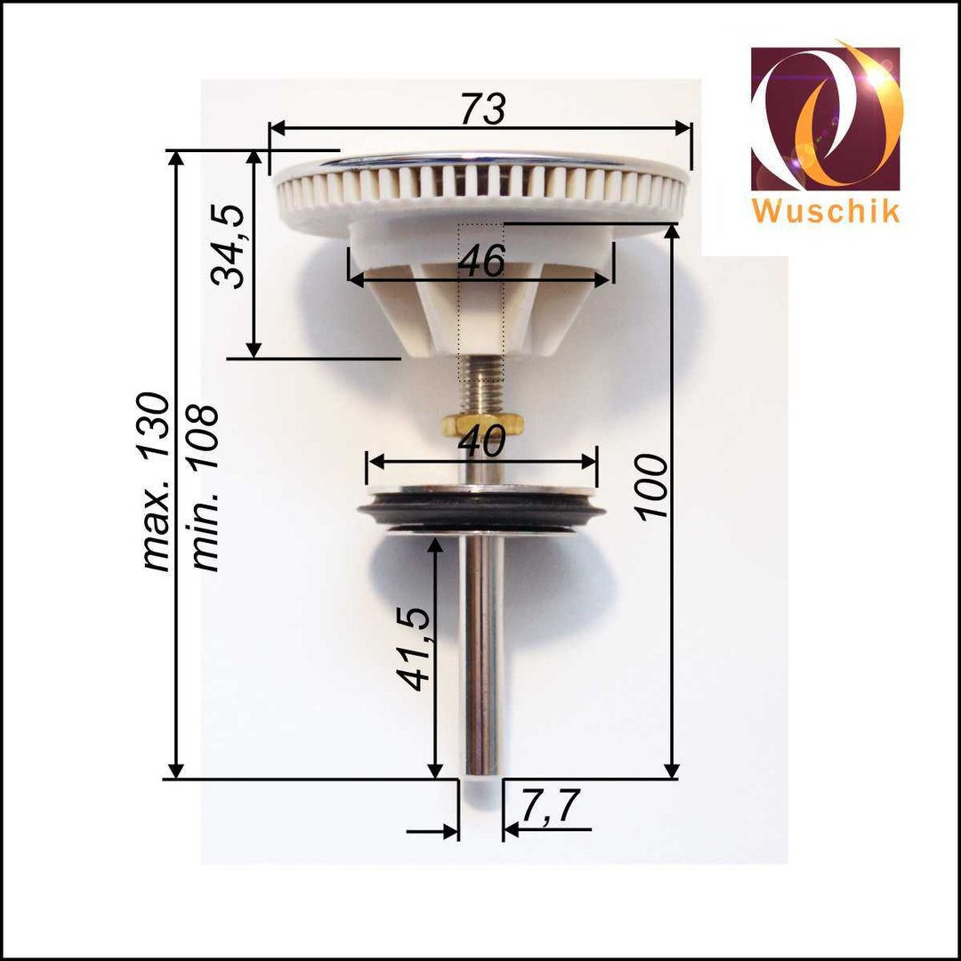 Drain Plug Whirlpool Tubs Suction With Sieve Brass Chrome New