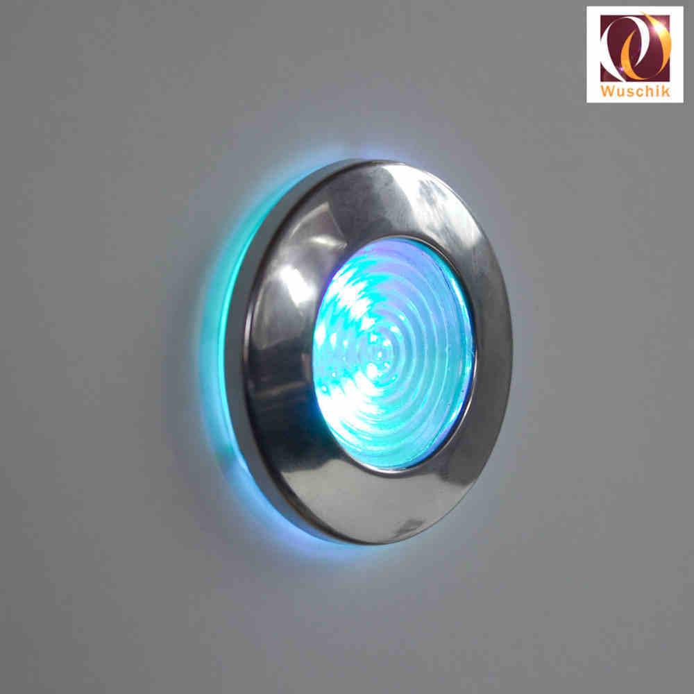 Whirlpool Beleuchtung | Farblicht Starter Set 54 Mm Leuchte Edelstahl 12 Volt Farbwechel