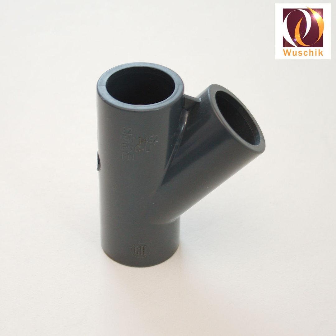 Pvc Rohr 200 Mm : pvc y st ck 32mm pn16 grau y verbinder yst ck aufteiler ~ Yuntae.com Dekorationen Ideen