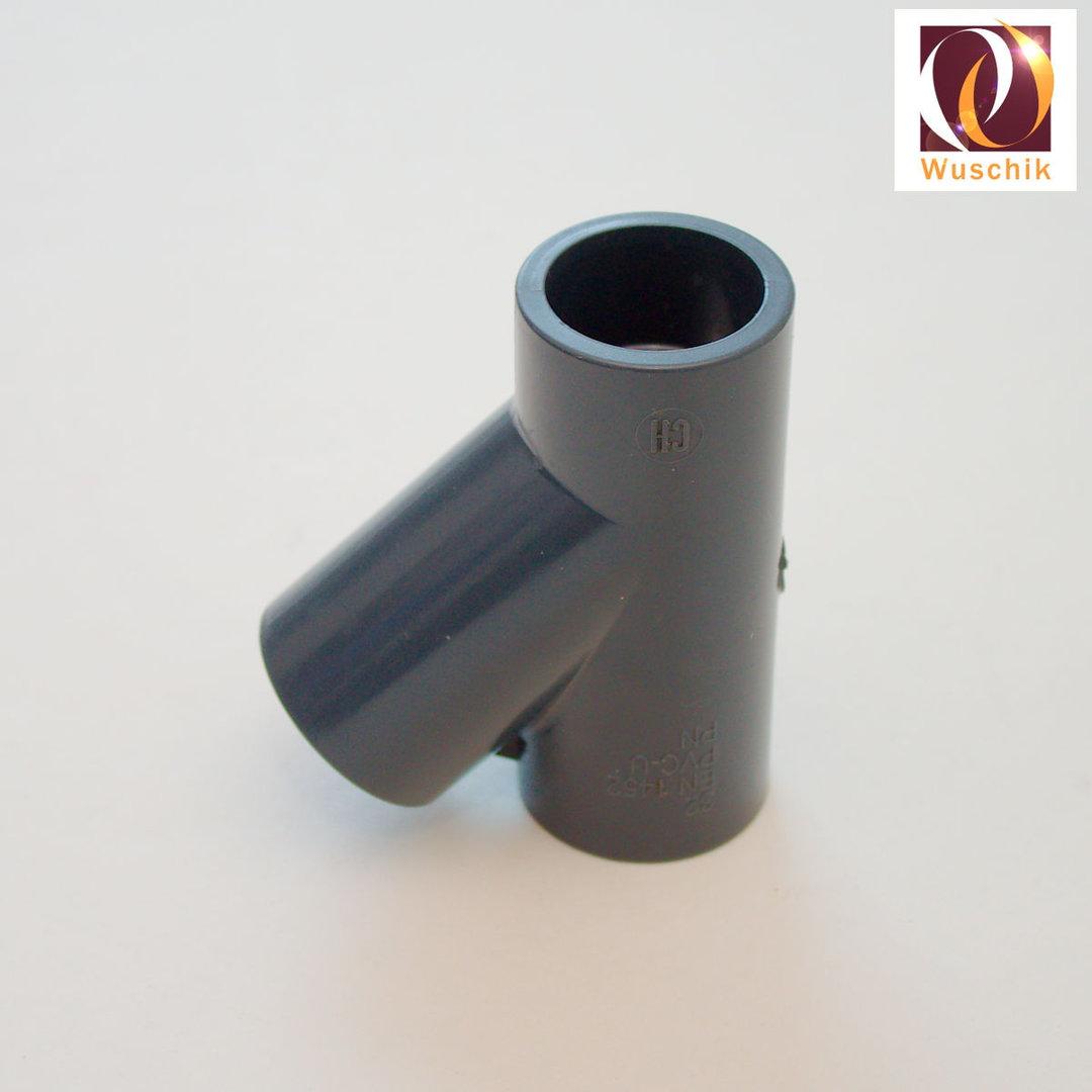 Pvc ypsilon mm plumbing y connector grey piece