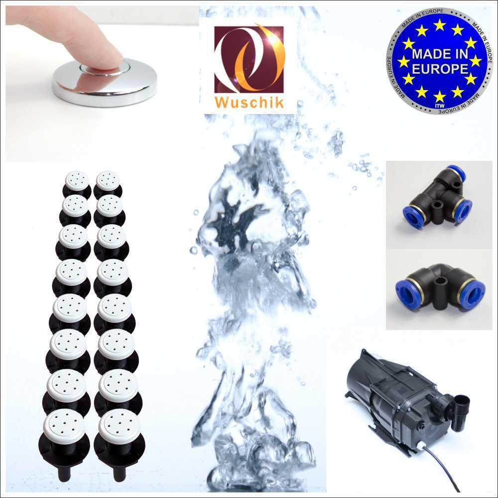 16 injector jacuzzi Air Spa whirlpool DIY Kit low cost white top!