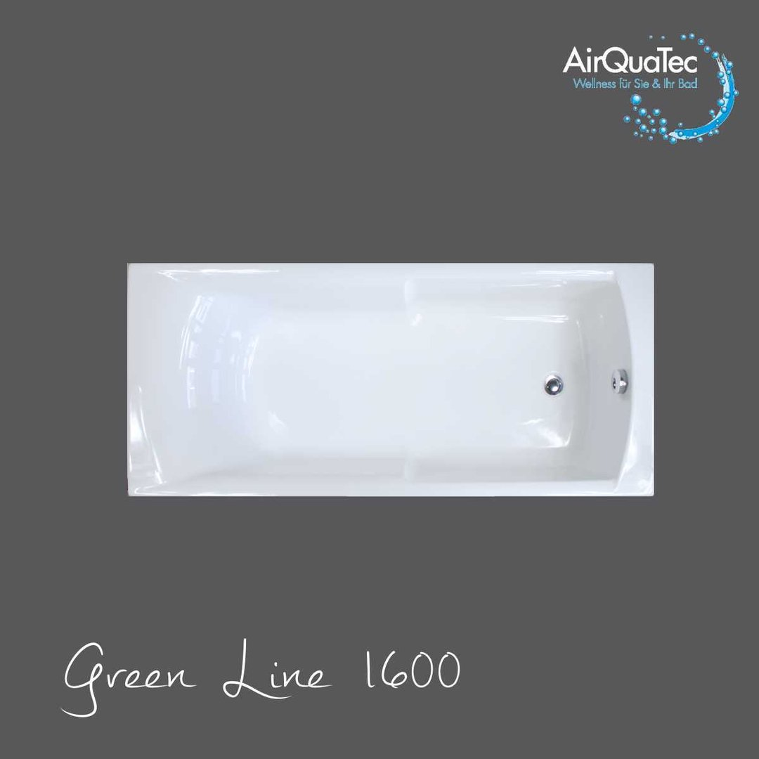 Low Edge Ridge Profile Bathtub 160 X 70 Cm Square Easy Entry