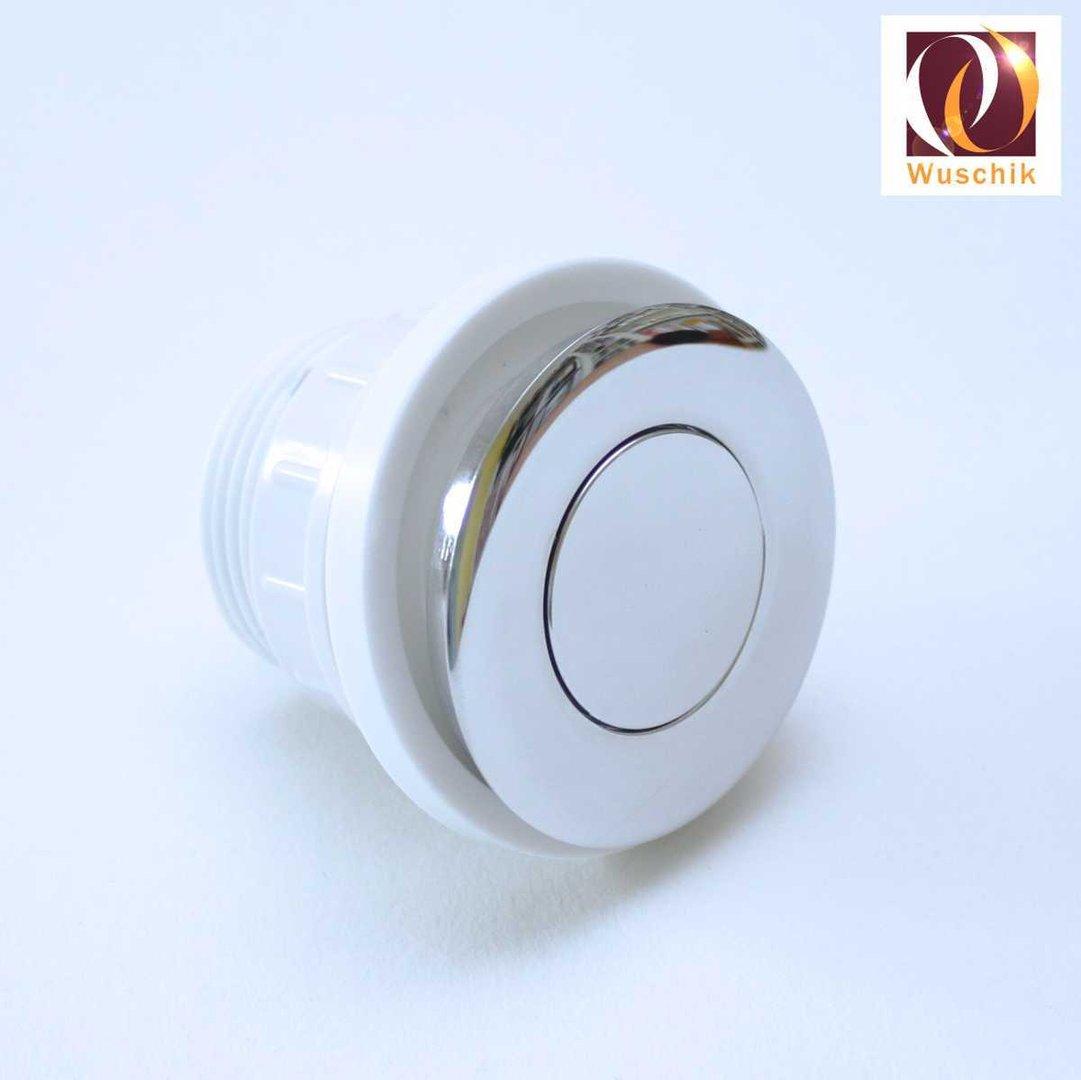 Push Button Flat Design 50 Mm Air Switch Chrome Plated Brass