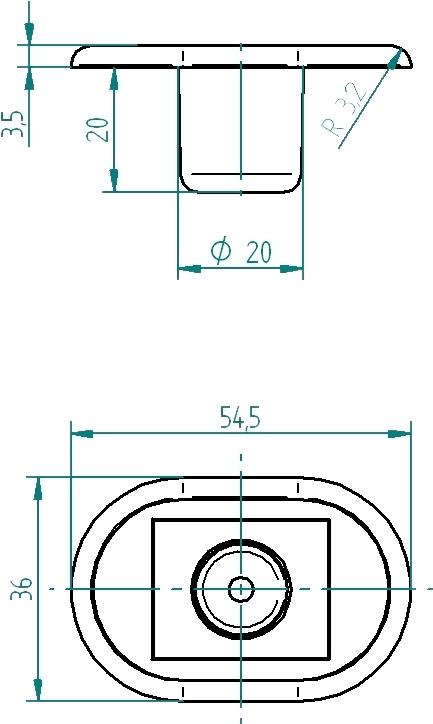 taster whirlwanne zwei tasten ein aus oval 55 x 36 mm. Black Bedroom Furniture Sets. Home Design Ideas