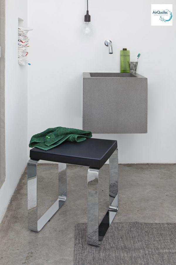 Sitz Stuhl F?r Dusche : Edelstahl-Sitz-Hocker-Dusche-Dampfbad-Badezimmer-Stuhl-Sitzplatz-Metal