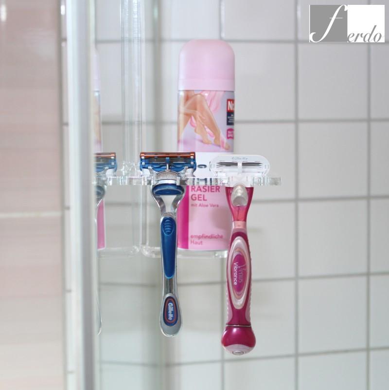 duschablage rasiererhalter duschen halterung duschbutler v ferdo. Black Bedroom Furniture Sets. Home Design Ideas