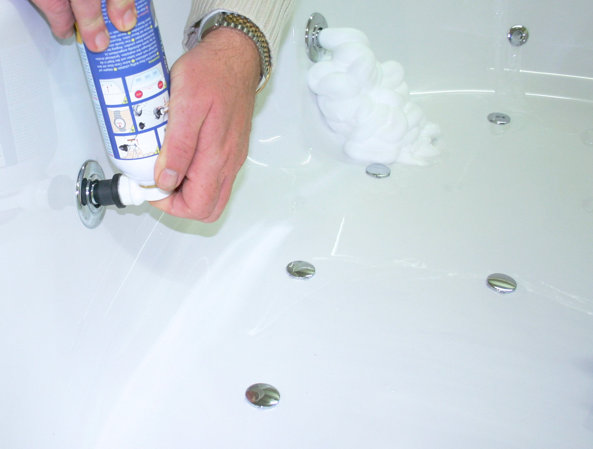 Biofilm cleaner foam 500ml bottle refill cleaning your jacuzzi!