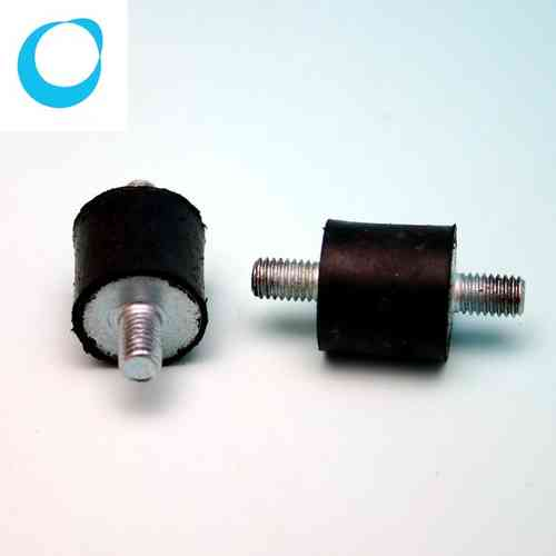 50 x Shock absorber, rubber buffer, block support M5
