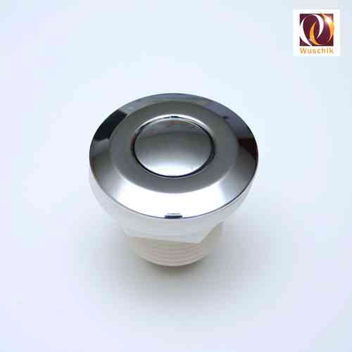 Pneumatic button, ø 50 mm pushbutton, airpushbutton chrome