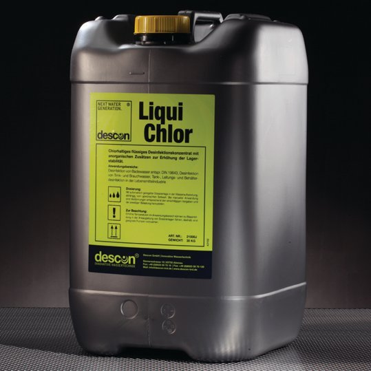 Liquid clorine 25 kg - for swimming pools - from DESCON