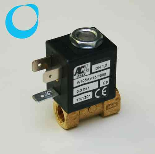"Solenoid valve 2 way direct acting poppet 1/8"" 12 V"