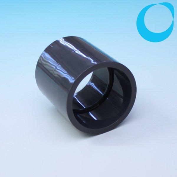 pvc muffe 50 mm fitting zum rohre verbinden 2 x 50 mm zum kleben. Black Bedroom Furniture Sets. Home Design Ideas