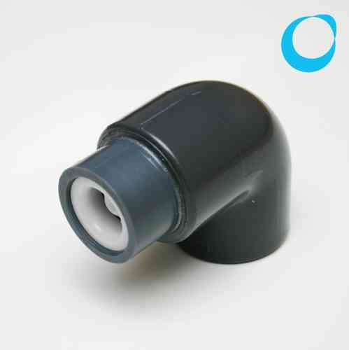 pvc elbow 32mm w. check valve non return
