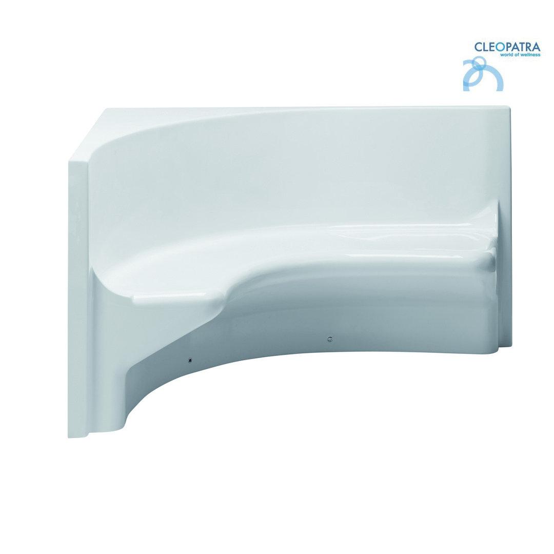 acrlysitz eckbank 150cm rechts wei glatt dampfbad dusche hammam. Black Bedroom Furniture Sets. Home Design Ideas