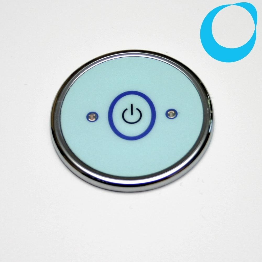 knopf whirlpool whirlwanne ein aus rund 53mm pooltaster schalter. Black Bedroom Furniture Sets. Home Design Ideas