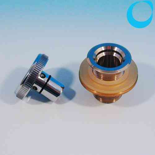 Filler inlet pipe loading aperture brass chrom 3/4 inch