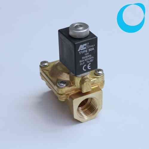 "Solenoid valve 2 way direct acting poppet type 1/2"" 12 V AC"