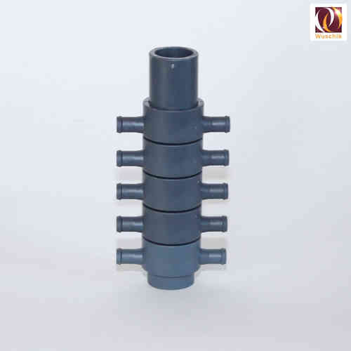 10 exit hose manifold 32mm - 10 x 10 mm distributor, opposite