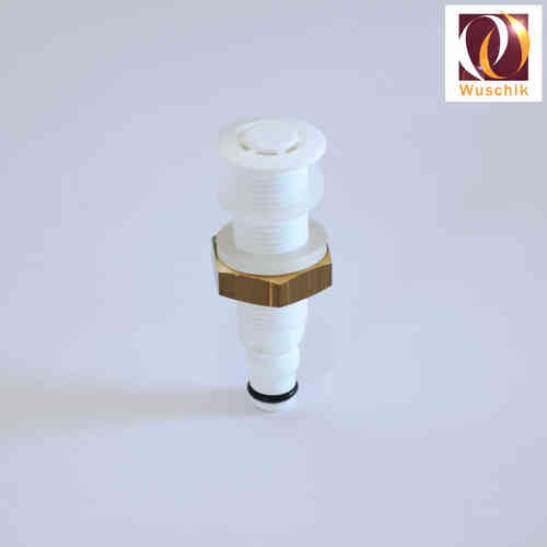 Air spa jet 14mm non return valve, brass nut, check-valve