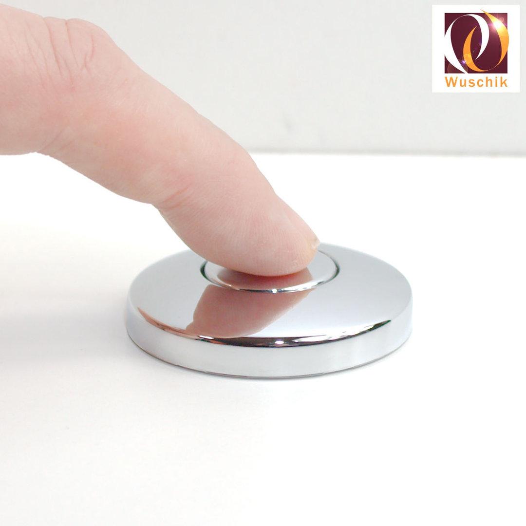 Chrome Air Switch Push Button, 44mm, bellows actuators