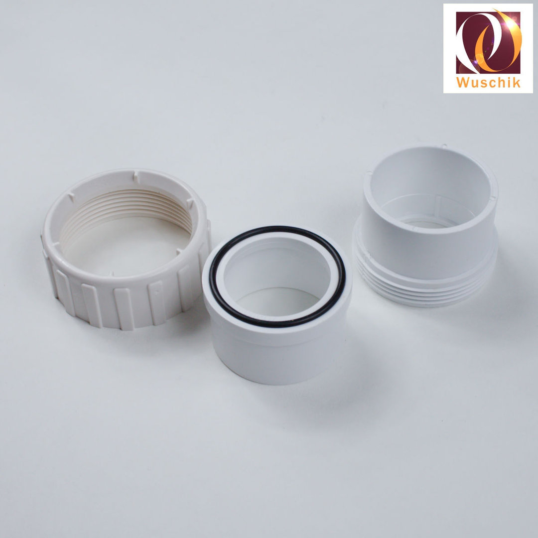 2 Quot Union Screwable Pvc White Glue Joint Sleeve Fitting