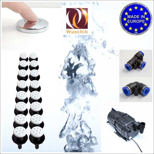 16 injector jacuzzi Air Spa whirlpool DIY Kit low cost white