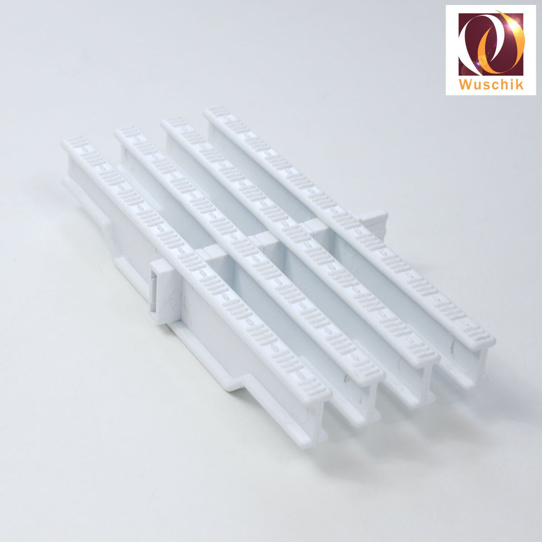 1 Meter Drainage Grate Cover 20 cm white Overflow grating