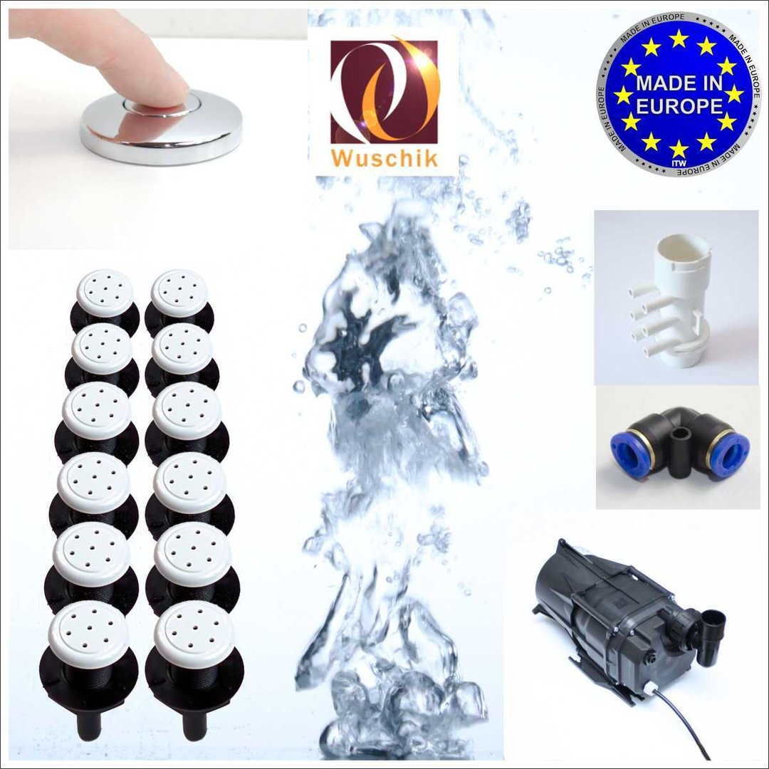 12 injector jacuzzi air spa whirlpool diy kit white low cost. Black Bedroom Furniture Sets. Home Design Ideas