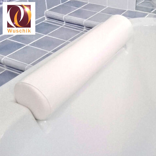 Headrest pillow bath tub 12 cm leather white