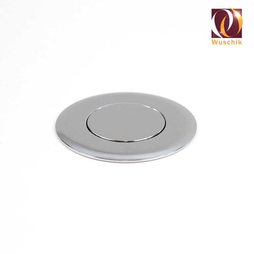 Push button flat design 50 mm air switch chrome
