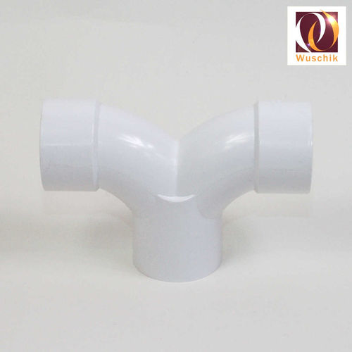 Double bow - Tee 2.5 inch PVC fitting pool spa parts