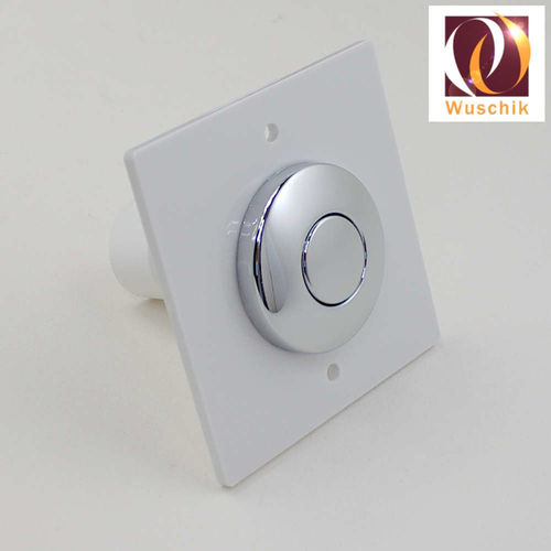 Wall switch pushbutton 8 x 8 cm air switch chrome