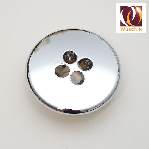 Air spa jet cap 62 mm 4 holes chrome plated