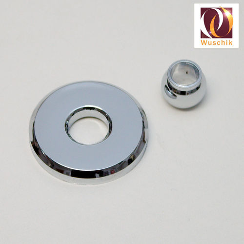Microjet cover with ball head 42 mm chrome