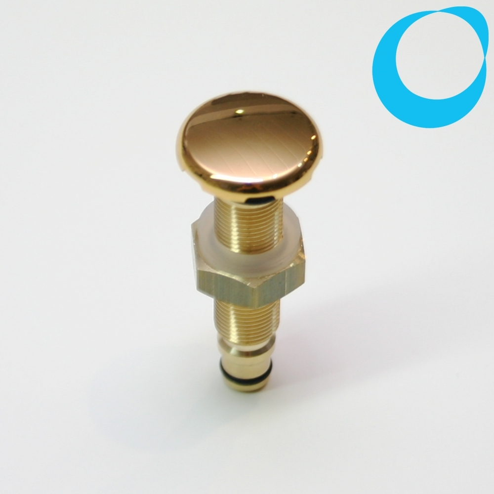 Air spa jet gold 25 mm drilling 12 mm whirlpools, jacuzzi