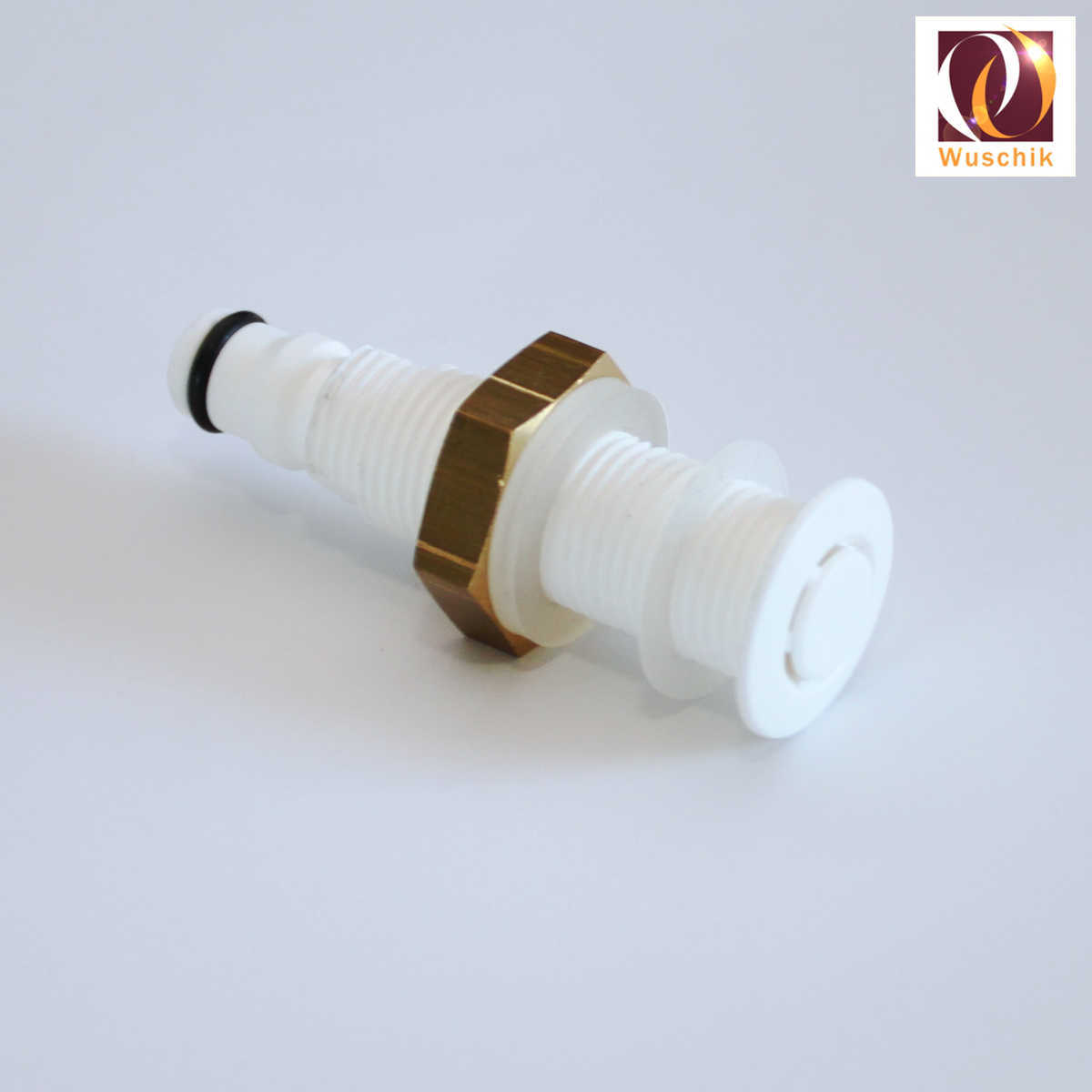 Air spa jet 14mm non return valve, brass nut with check-valve