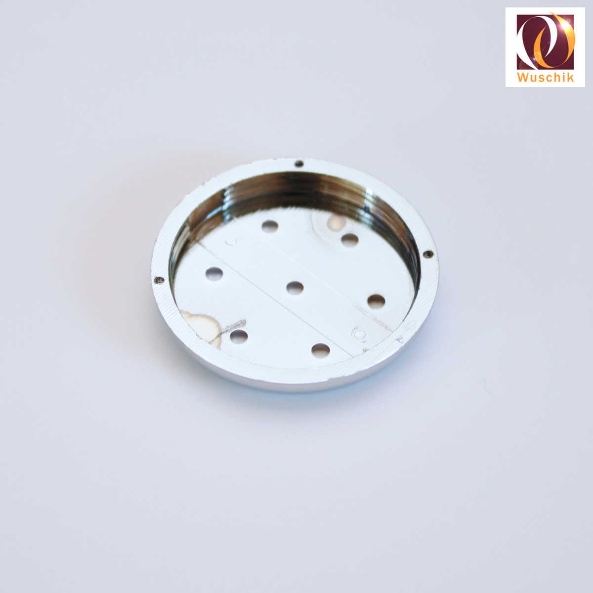 Jet-cap-front-plate-air-spa-whirlpool-tub-bubble-cover-chrome-7-holes-spare-replacement-27mm-screw-discharge