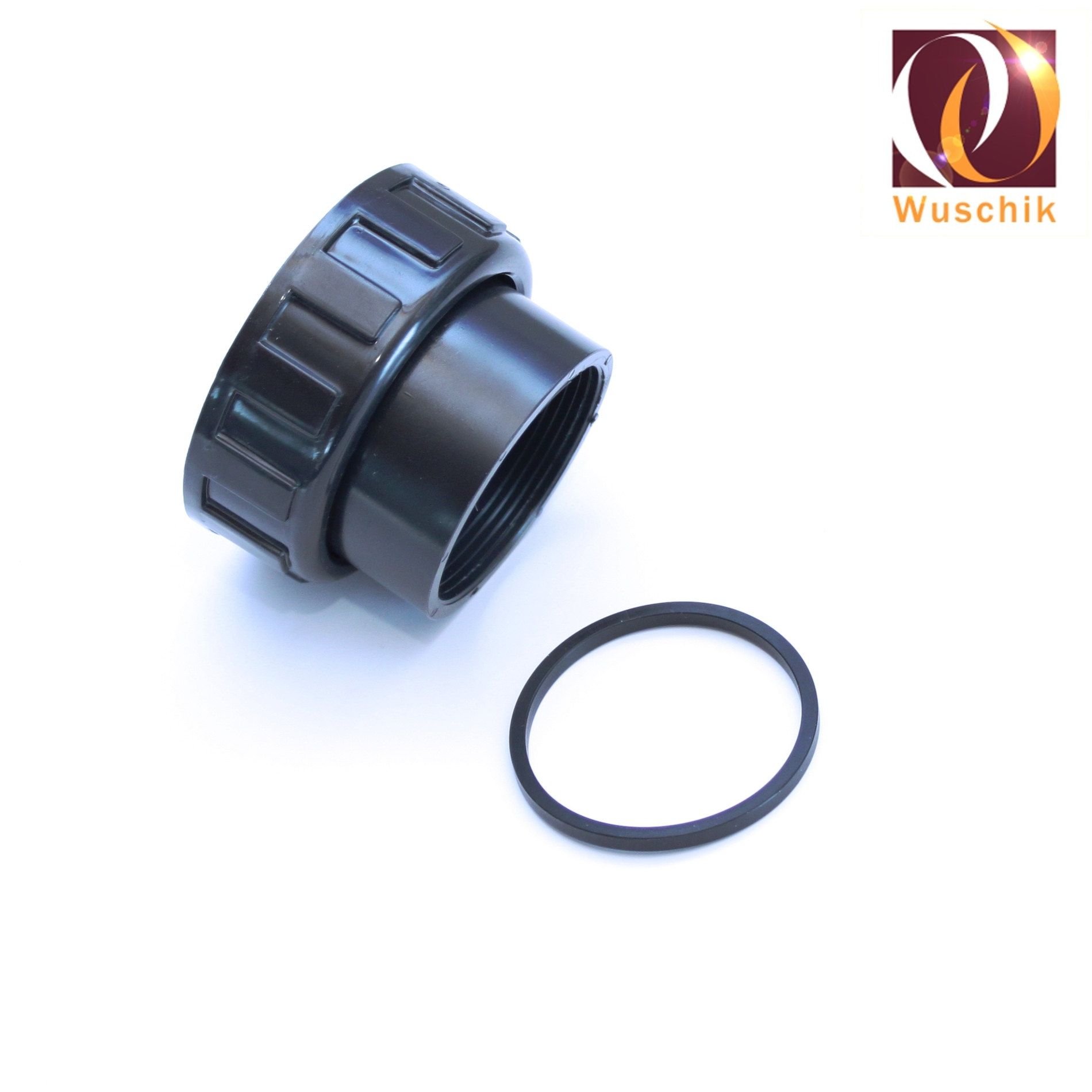Pump-connection-connector-fitting-50-mm-thread-2-1-4-Inch-Nut-glue-seal