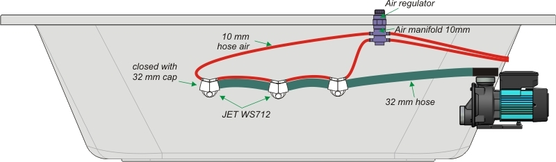 Rotating Jacuzzi Jet Hydrojet Waterjet Adjustable
